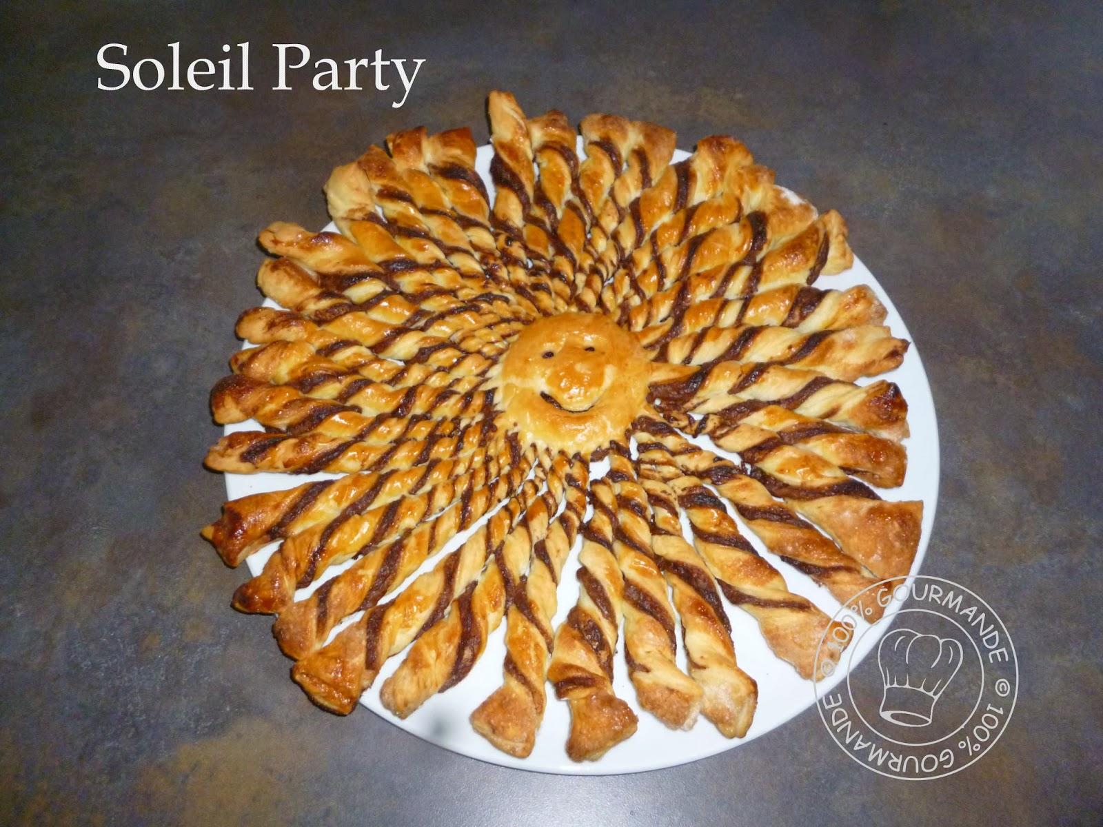 100 gourmande soleil party - Pate feuilletee nutella soleil ...