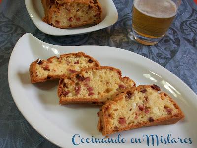 Pastel de Jamón y queso con cerveza