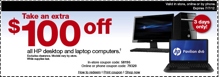 Hp laptop discount coupons