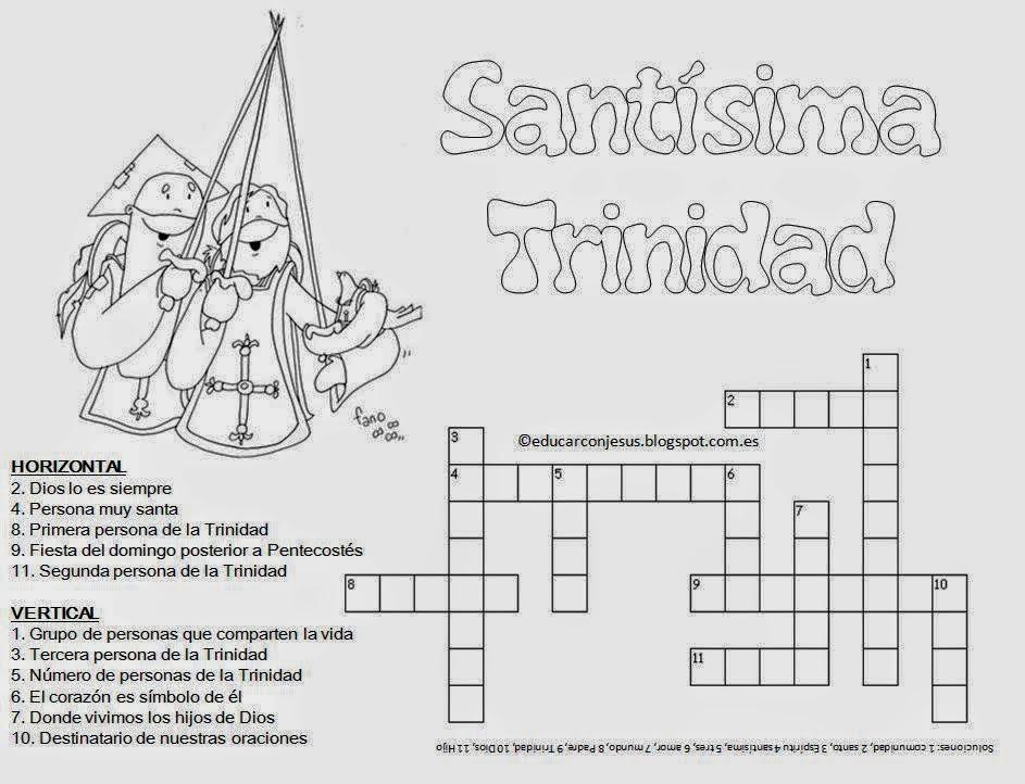RELIALBA: CRUCIGRAMA DE LA SANTISINA TRINIDAD.