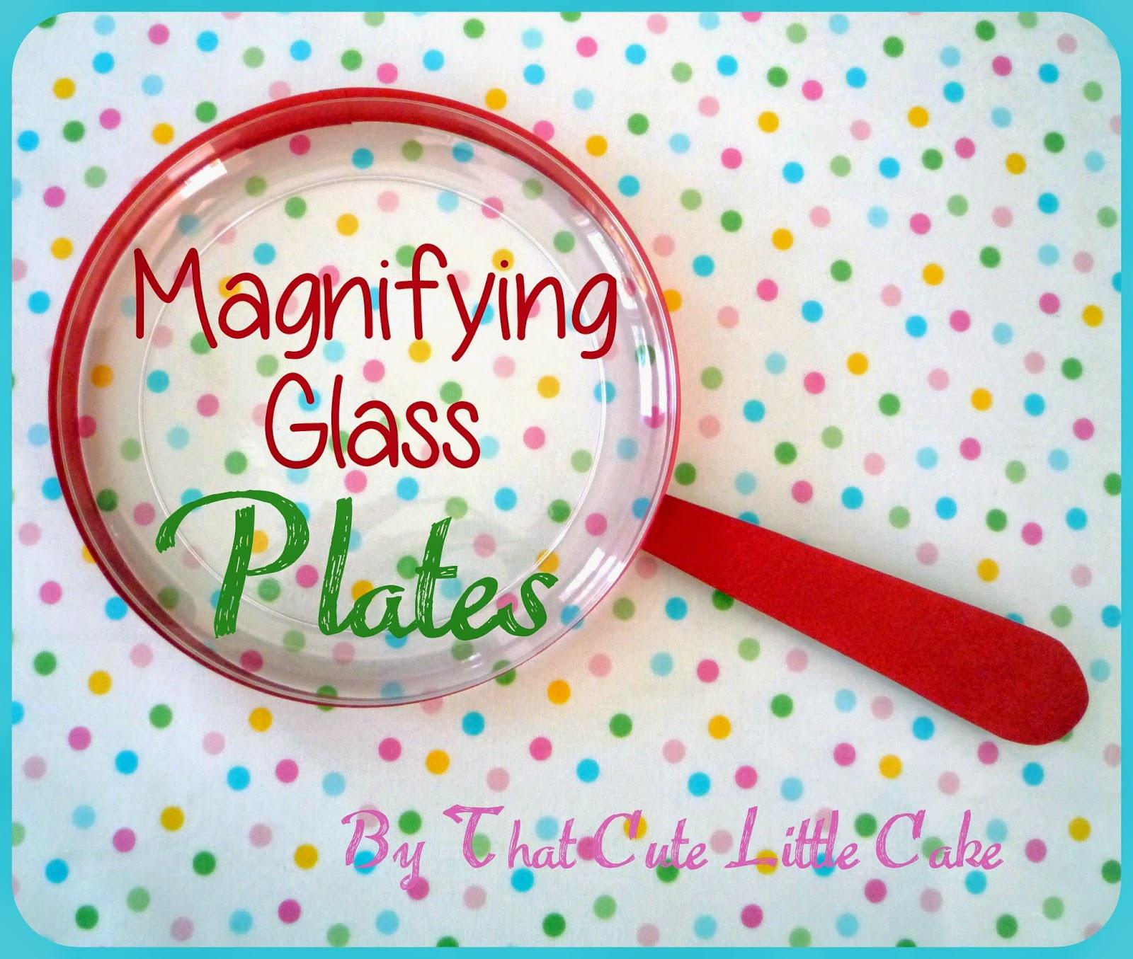That Cute Little Cake Craft Magnifying Glass plates  : MagnifyingglassplatesHEADER from www.thatcutelittlecake.com size 1600 x 1355 jpeg 357kB