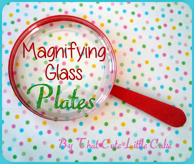 that cute little cake craft magnifying glass plates