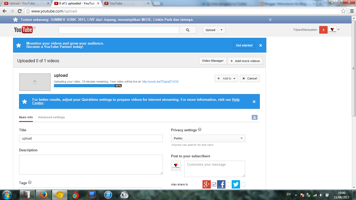 welcome to my blog  pause and resume upload youtube
