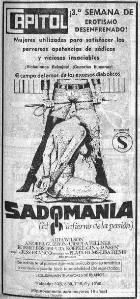 sadomania infierno pasion jesus jess franco