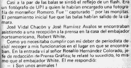 La llegada de Jorge Pinto h. a la residencia de White
