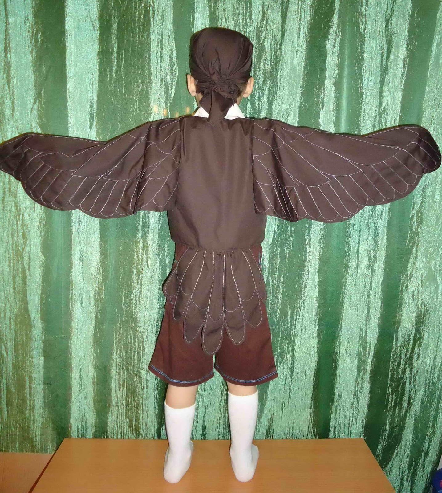 Как сделать крылья воробья