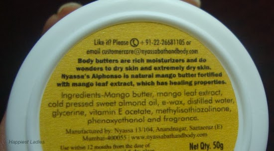 Nyassa Body butter Ingredients