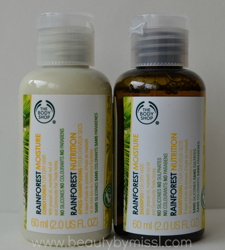 The Body Shop Rainforest Moisture Shampoo and conditioner review