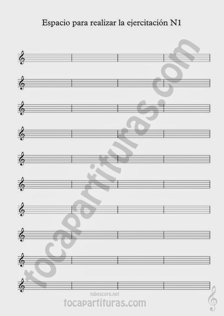 Partitura para realizar el Ejercicio de Improvisación Nº 1