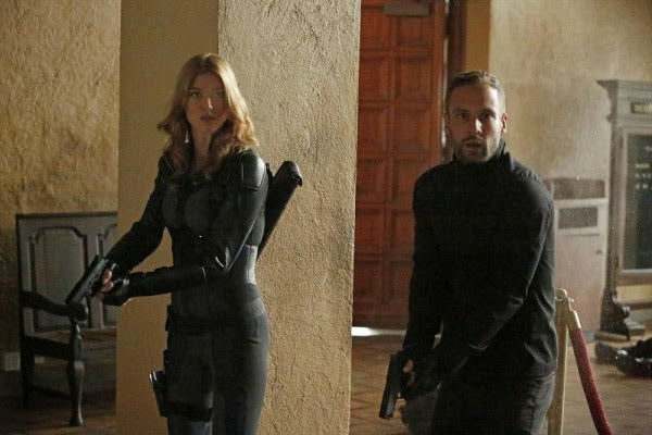 Adrianne Palicki and Nick Blood in Agents of S.H.I.E.L.D.