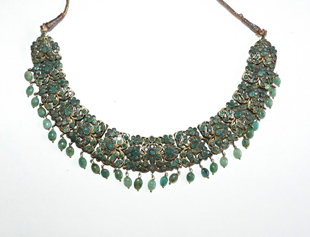 Indian style green onyx necklace
