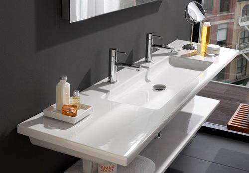 Flat bathroom sinks offer clean look for Flat bathroom sinks