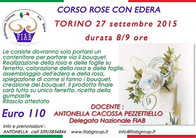 Corso del bouquet con rosa edera
