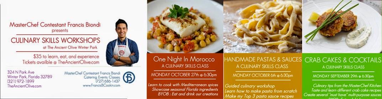 Culinary Skills Workshops!