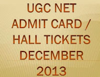 UGC NET Admit Card December 2013