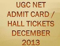 UGC NET Admit Card December 2013