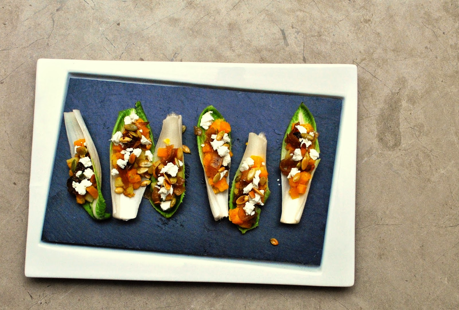 Butternut & Apple Stuffed Endive Spears