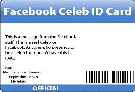 DSBIZZ1 @ YOUTUBE: Facebook BLANK ID Card Photo.