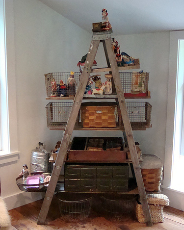 old ladder storage solution
