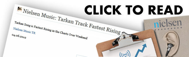 Nielsen Music says Tarkan Track is fasting rising song