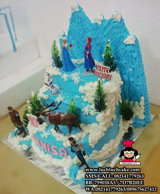 frozen disney buttercream cake