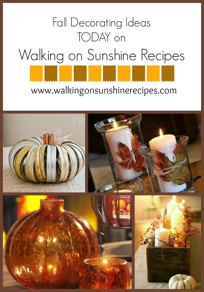 Walking on Sunshine: Fall Decorating Ideas...