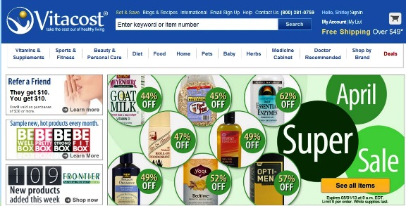 vitacost international online shopping promo