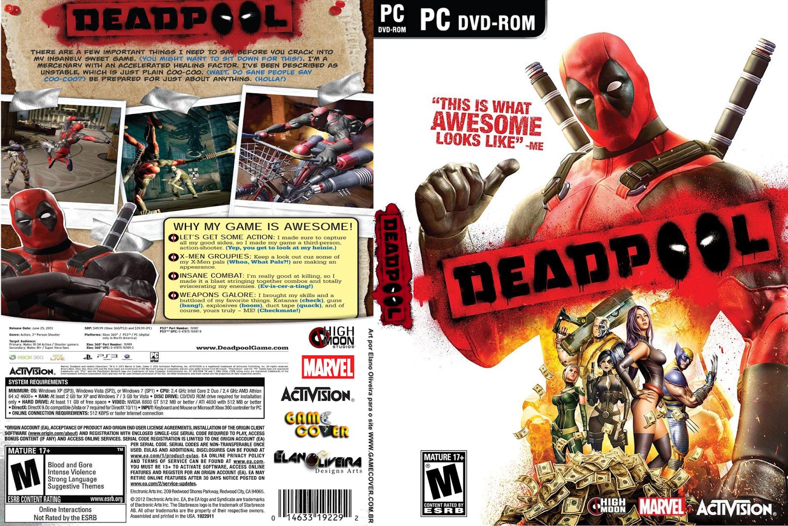 DeadPool pc capa