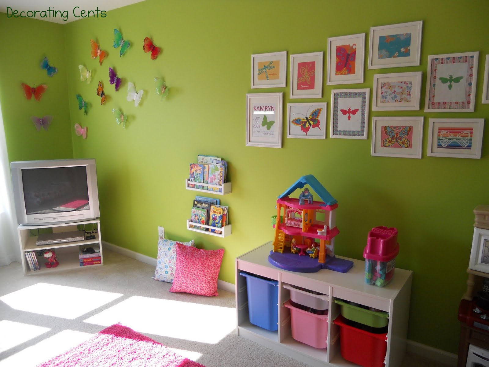 Decorating Cents: Sweet Girl\'s Room: The Reveal
