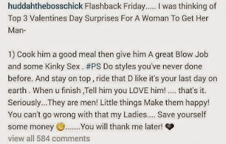 SHOCKIN!!! you wouldn't believe how fomer BBA house mate Huddah Monroe describes ideal val gift for your man .