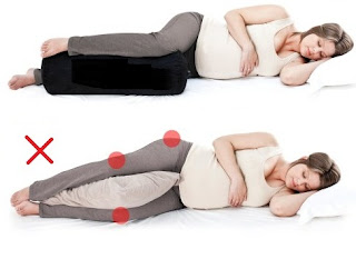 Sleeping positions in pregnancy