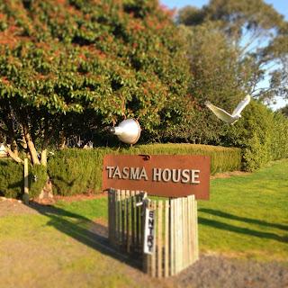 Front entry of Tasma House and Gardens, Daylesford, Victoria, Australia