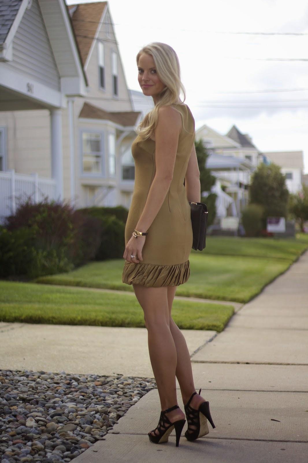 gold dress, wedding guess attire, wedding wear