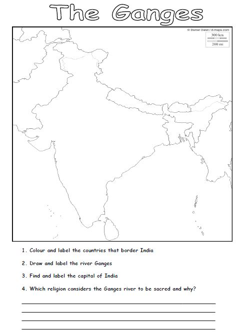 Free rivers worksheets for teaching the geography topic of rivers