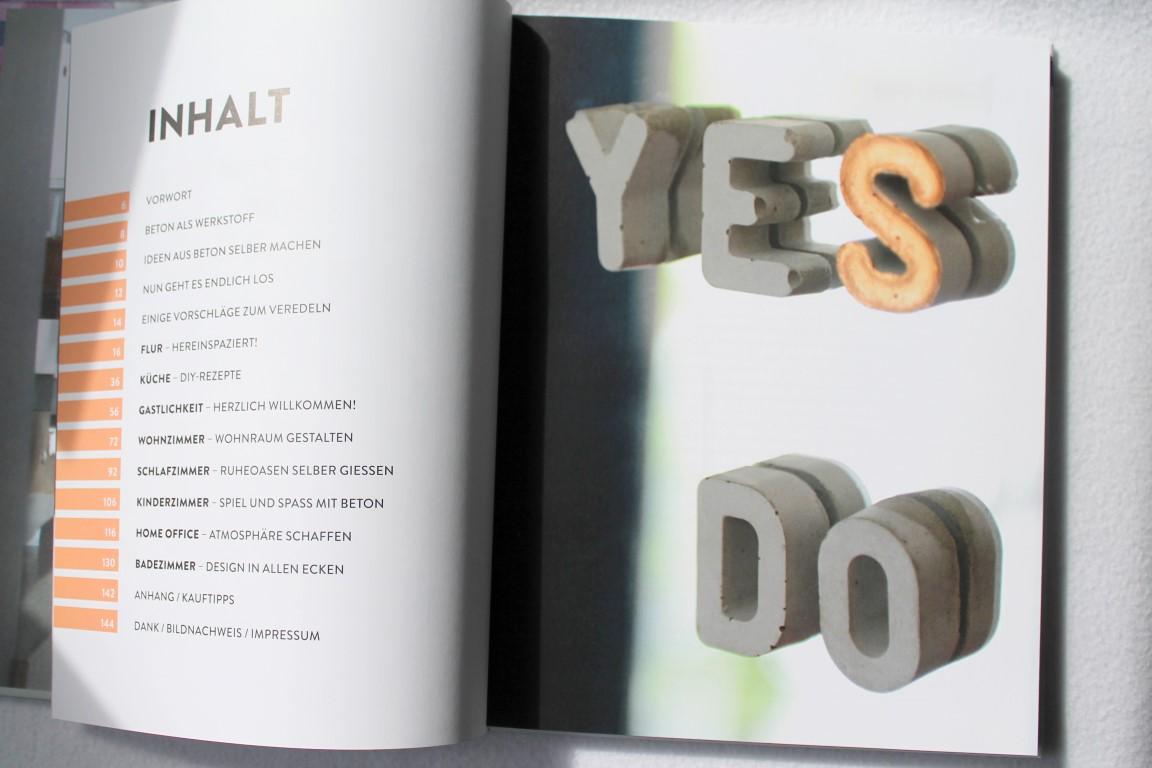 Inhaltsverzeichnis Buchtipp: Wohnen mit Beton Callwey Verlag
