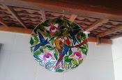 Mandala Araras com 32 cm.