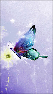 Violet Butterfly Mobile Wallpaper