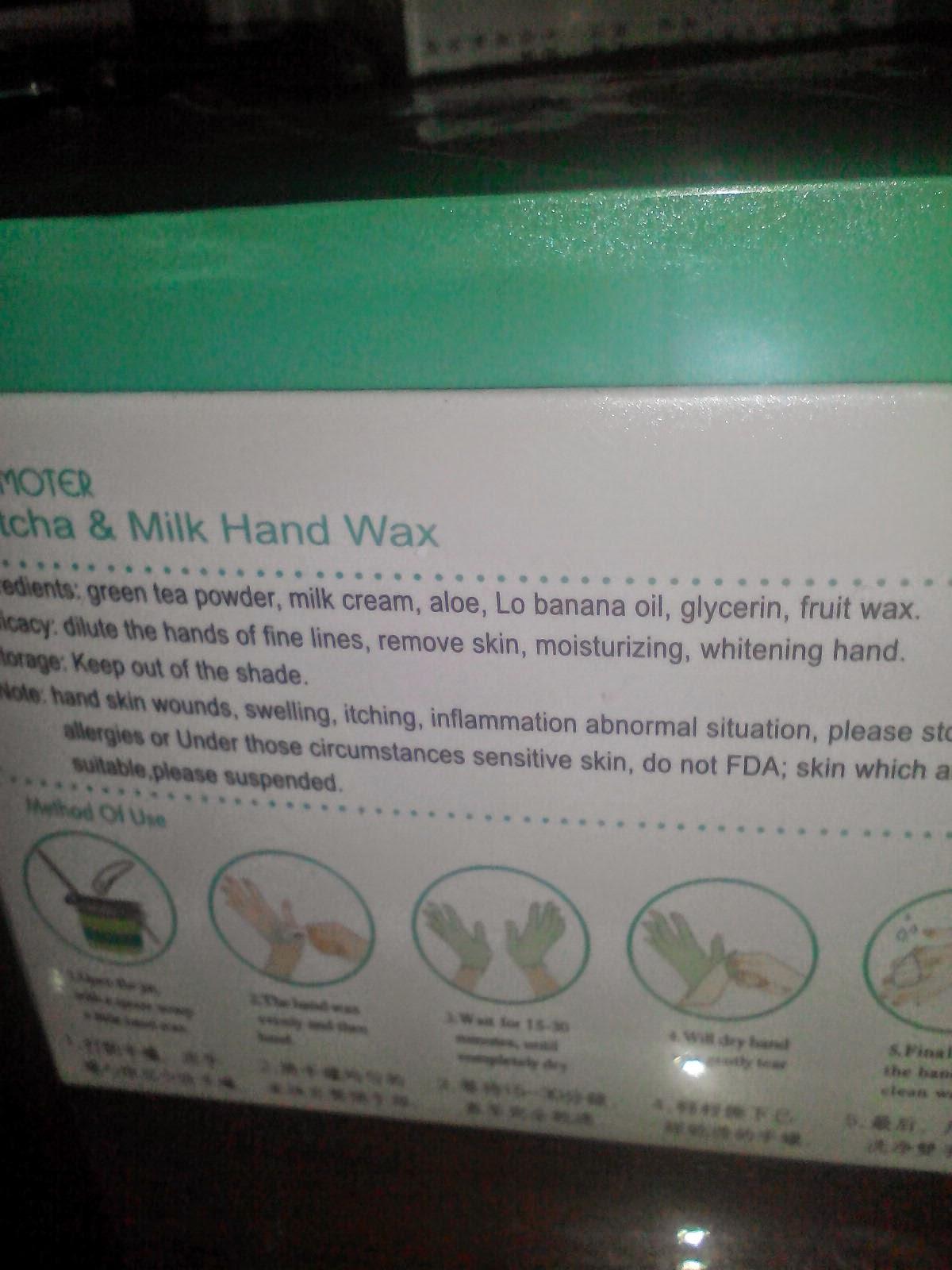 Matcha & Milk hand Wax harga murah je :)