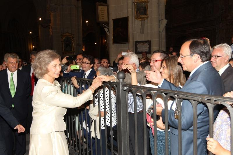 Queen Sofia at the Cathedral of Toledo, where she attended the performance of Mozart's Requiem concert.