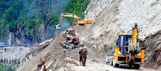 Landslide at NH 10 Setikhola