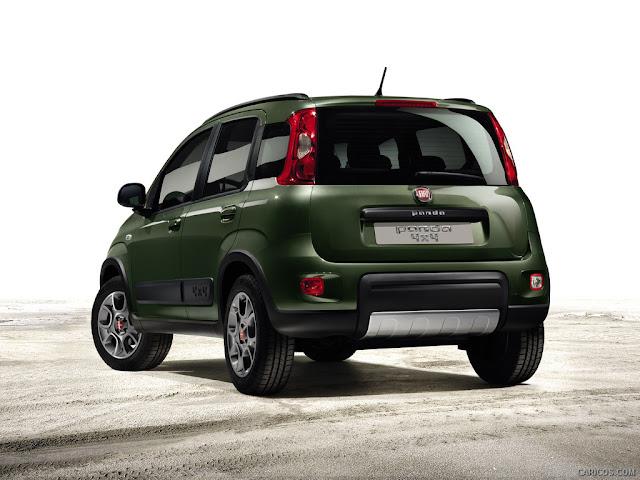2013 Fiat Panda 4x4 rear shot