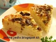 Bryndzový koláč s údenou slaninkou - recept