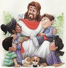 VISUAIS JESUS ABENÇOA AS CRIANÇAS.