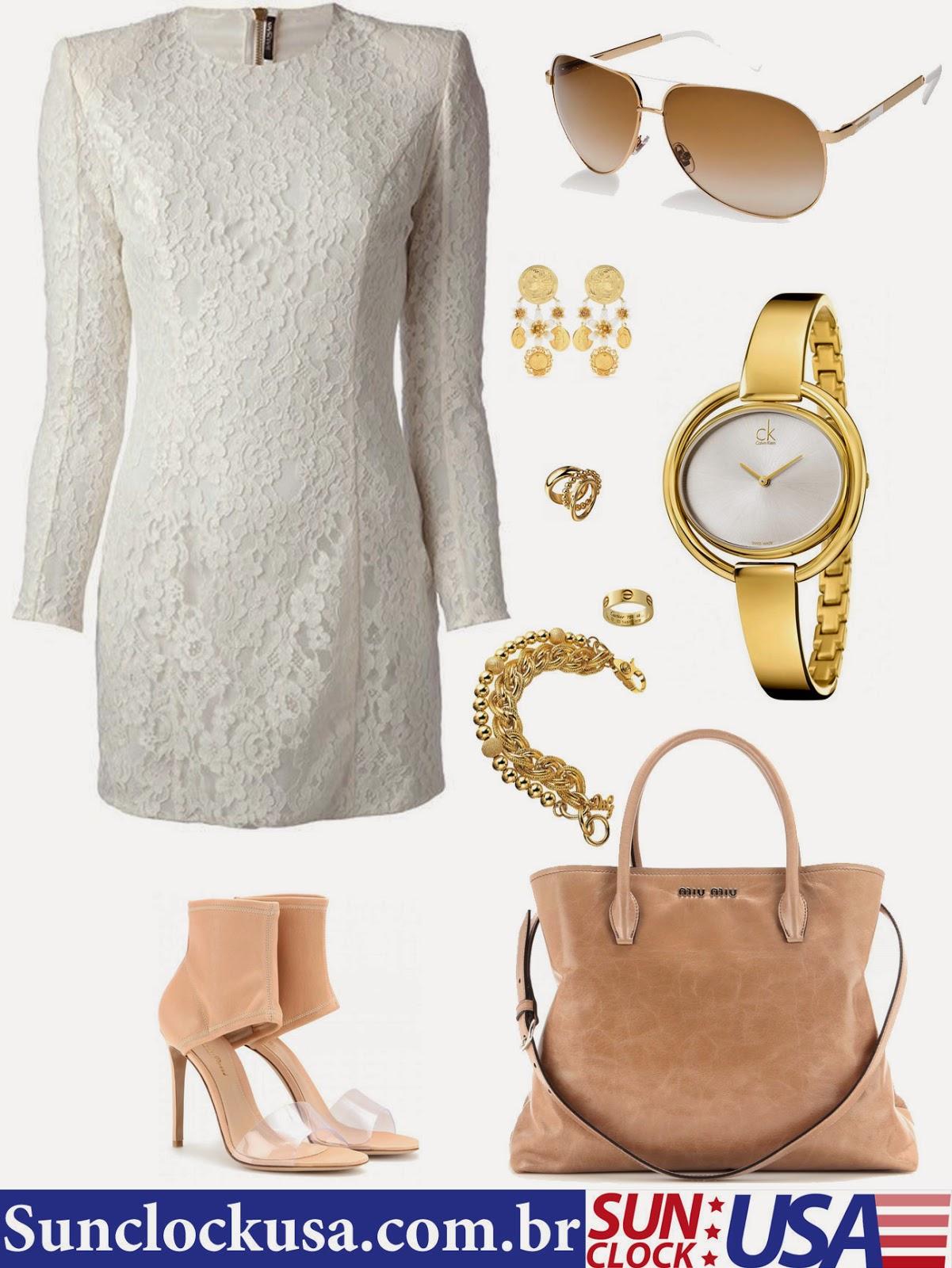 Relógios Calvin Klein e Óculos Gucci