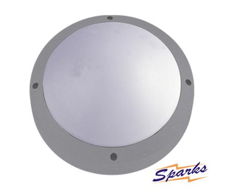 Round Bulkhead in silver, the TPC2124 IP65 diecast aluminium