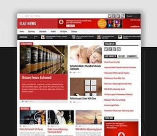 Flat News Magazine Blogger Template 2015 Free Download