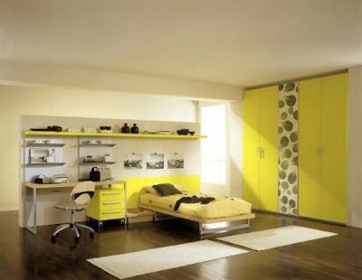 ديكورات غرف أطفال 2013، غرف نوم باللون الأصفر 2013
