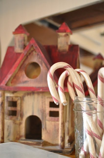 Natural candy canes displayed