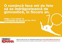 Why I Love Romania?  De Ce Iubesc Romania? Nadia Comaneci poster romana