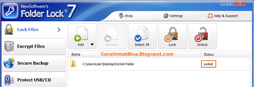 Cara Mengunci Folder Step 3